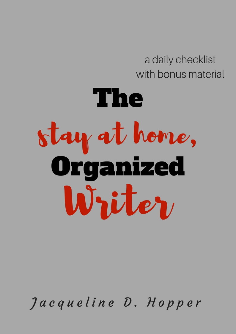 A check list workbook to accommodate your busy writing schedule while maintaining your home