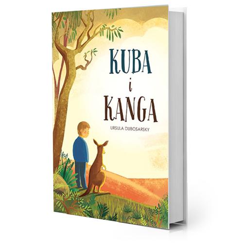 ilustracja okładka projekt okładki ilustracje na okładkę katarzyna urbaniak Kuba i Kanga dla dzieci australia kangur