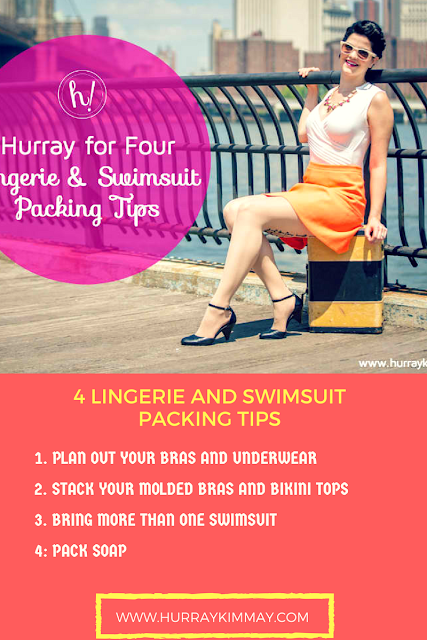 4 Lingerie and Swimsuit packing tips