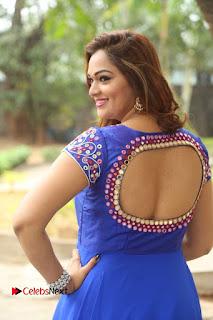 Actress Ashwini Stills in Blue Chudidar at Ameerpet Lo Release Press Meet  0023.JPG