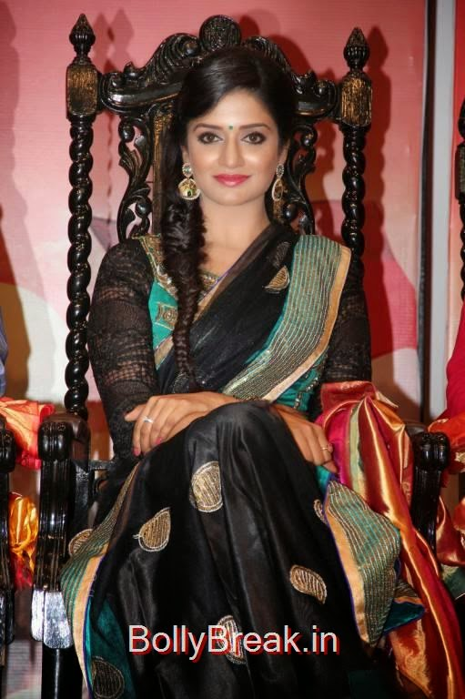 Vimala Raman Pics At Young India Awards, Vimala Raman Hot HD Pics in Black Saree from Young India Awards