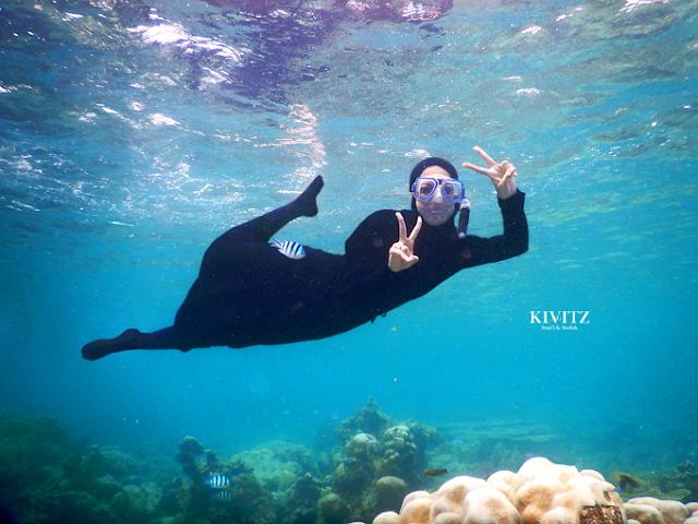 Tips Snorkling Dengan Hijab Syari