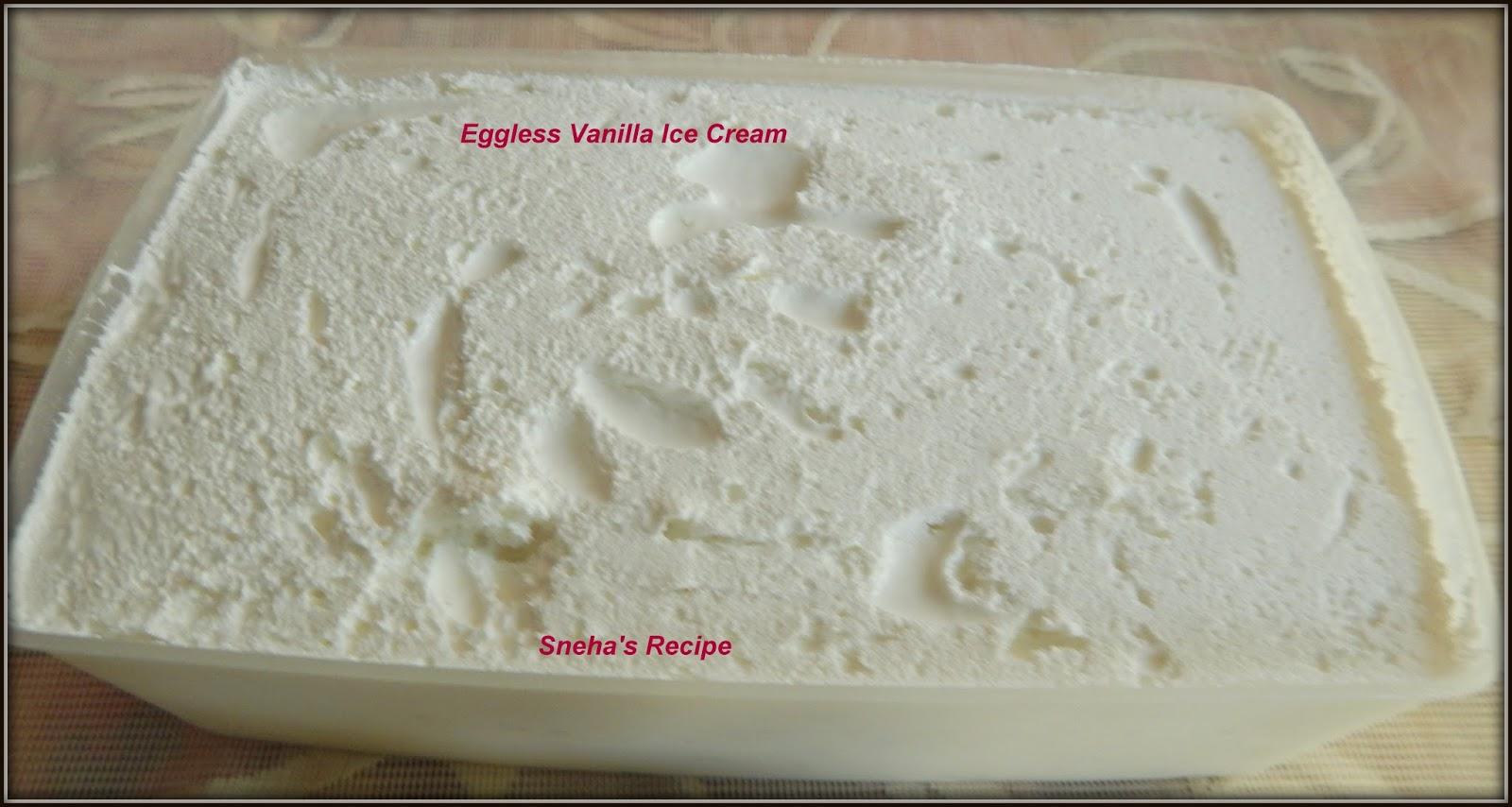 Eggless vanilla ice cream maker recipes