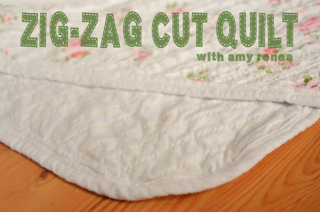 DIY Zig Zag Quilt for Baby -- #DIY Projects and Craft Ideas from Amy Renea at A Nest for All Seasons