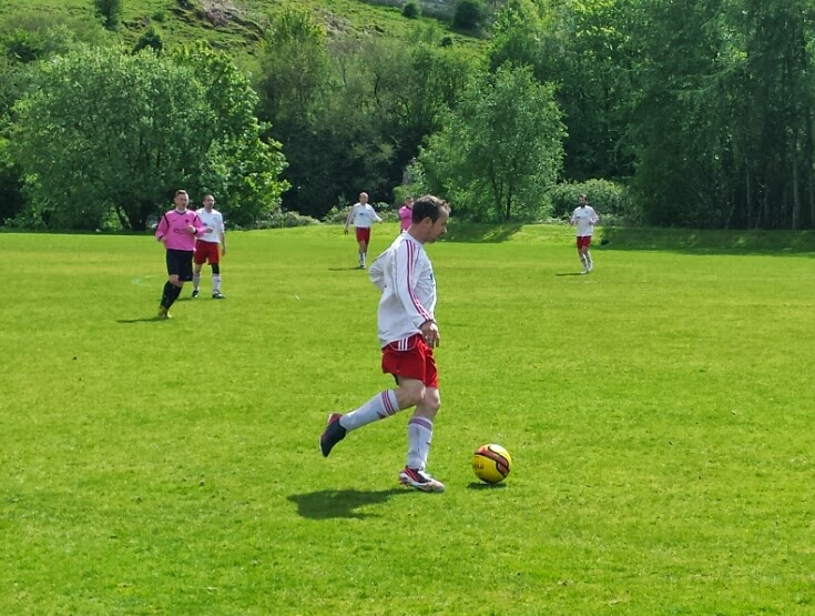 ... against F.C. Baillieston of the Glasgow Sunday Amateur Football League,  Maryhill Thistle of the Glasgow Colleges Football Association Premier  Division ...