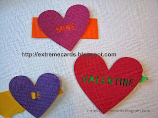 hearts with cut out words