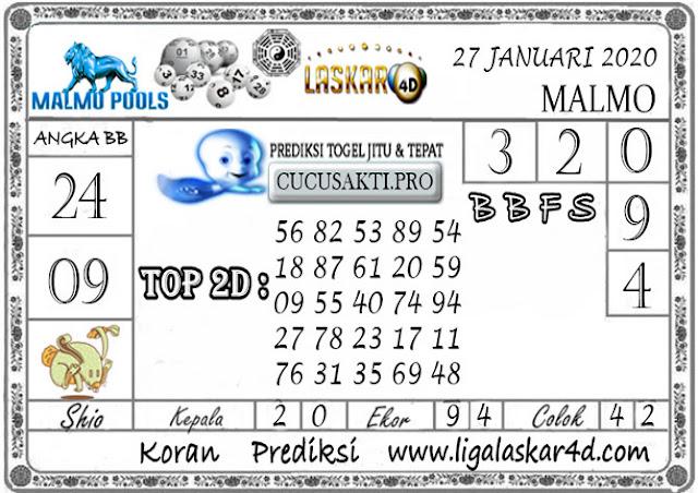 Prediksi Togel MALMO LASKAR4D 27 JANUARI 2020