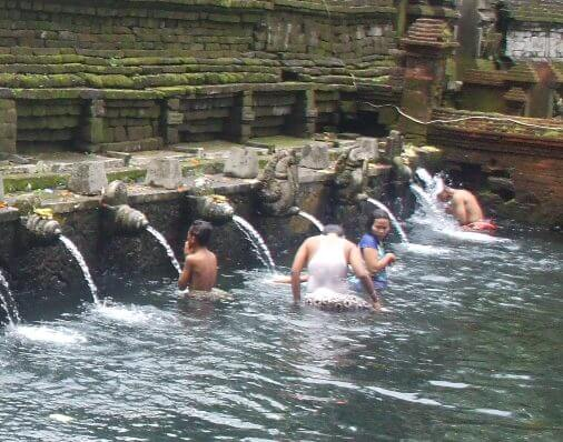 Pura Tirta Empul famous holy Spring Temple & Purification ceremony with Showerheads