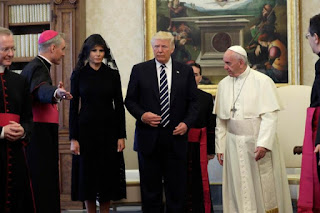 Pope Queries Melania Over Trump's Diet