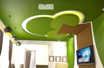 POP ceiling designs for modern living room interior