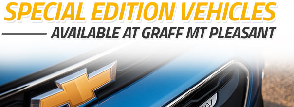 Special Edition Chevy Vehicles at Graff Mt. Pleasant
