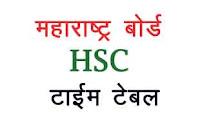 Maharashtra HSC Time Table 2019 - महाराष्ट्र एचएससी टाइम टेबल 2019