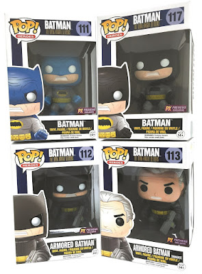 Batman: The Dark Knight Returns Pop! Vinyl Figures by Funko - The Joker, Government Agent Superman & Robin Carrie Kelly