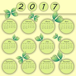 2017カレンダー無料テンプレート41