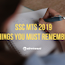 SSC MTS 2019: Things you Must Remember
