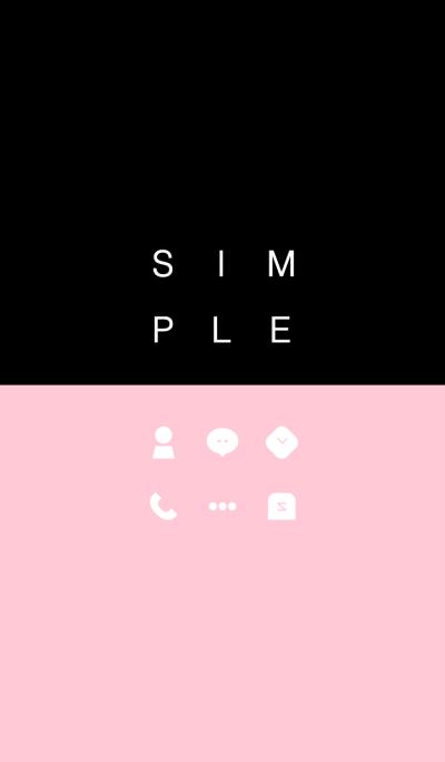 SIMPLE / black-pink