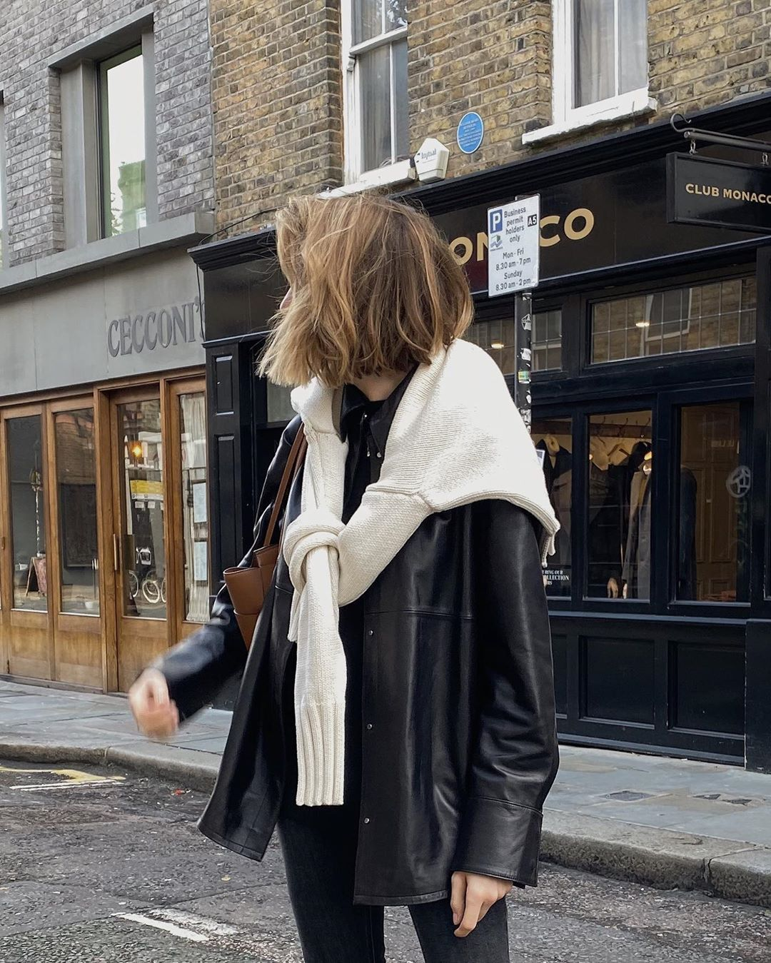 How to Wear a Leather Shirt Jacket for Winter — Lizzy Hadfield Style