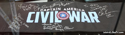 Captain America: Civil War signed chair back