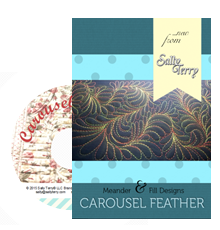 Free Motion Carousel Fill and Feather Machine Quilting Class Video by Sally Terry
