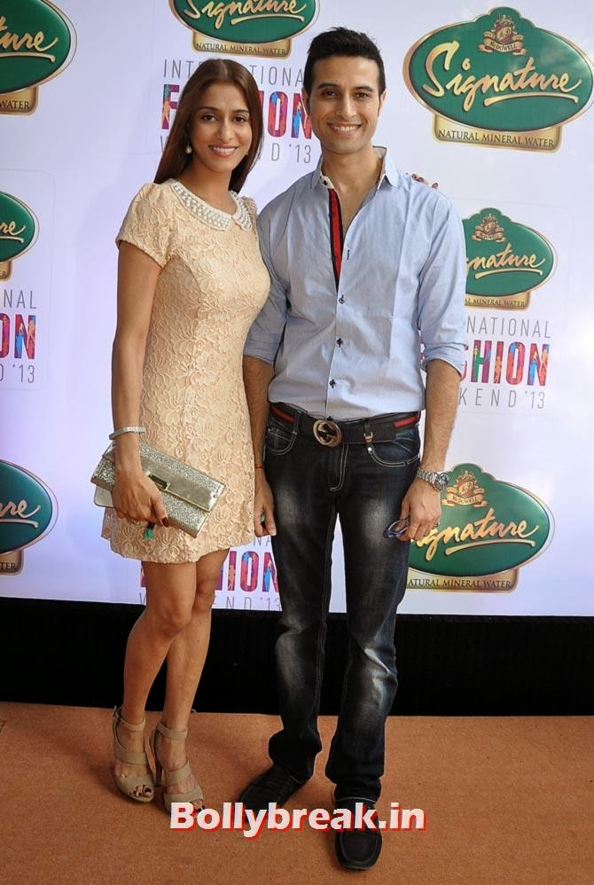 Shilpa and Apoorva Agnihotri  Shilpa Saklani and Apoorva Agnihotri played it safe and simple but totally made it work as they turned up for one of the shows at the fashion weekend. Ten on ten though for Shilpa's lovely cream dress.
