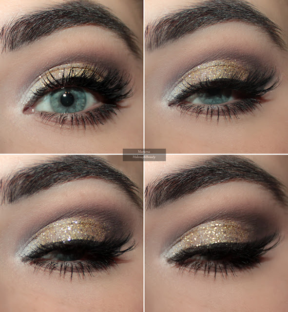 makeup gold złoty