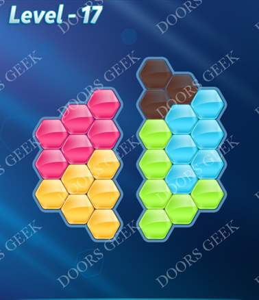 Block! Hexa Puzzle [Intermediate] Level 17 Solution, Cheats, Walkthrough for android, iphone, ipad, ipod