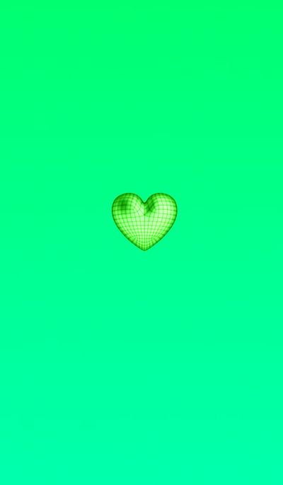 Wire Heart Green