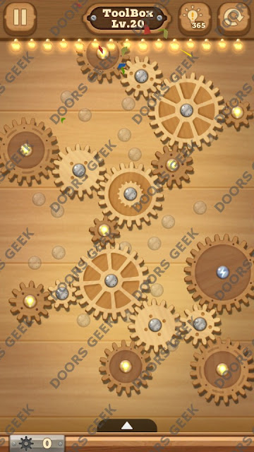 Fix it: Gear Puzzle [ToolBox] Level 20 Solution, Cheats, Walkthrough for Android, iPhone, iPad and iPod