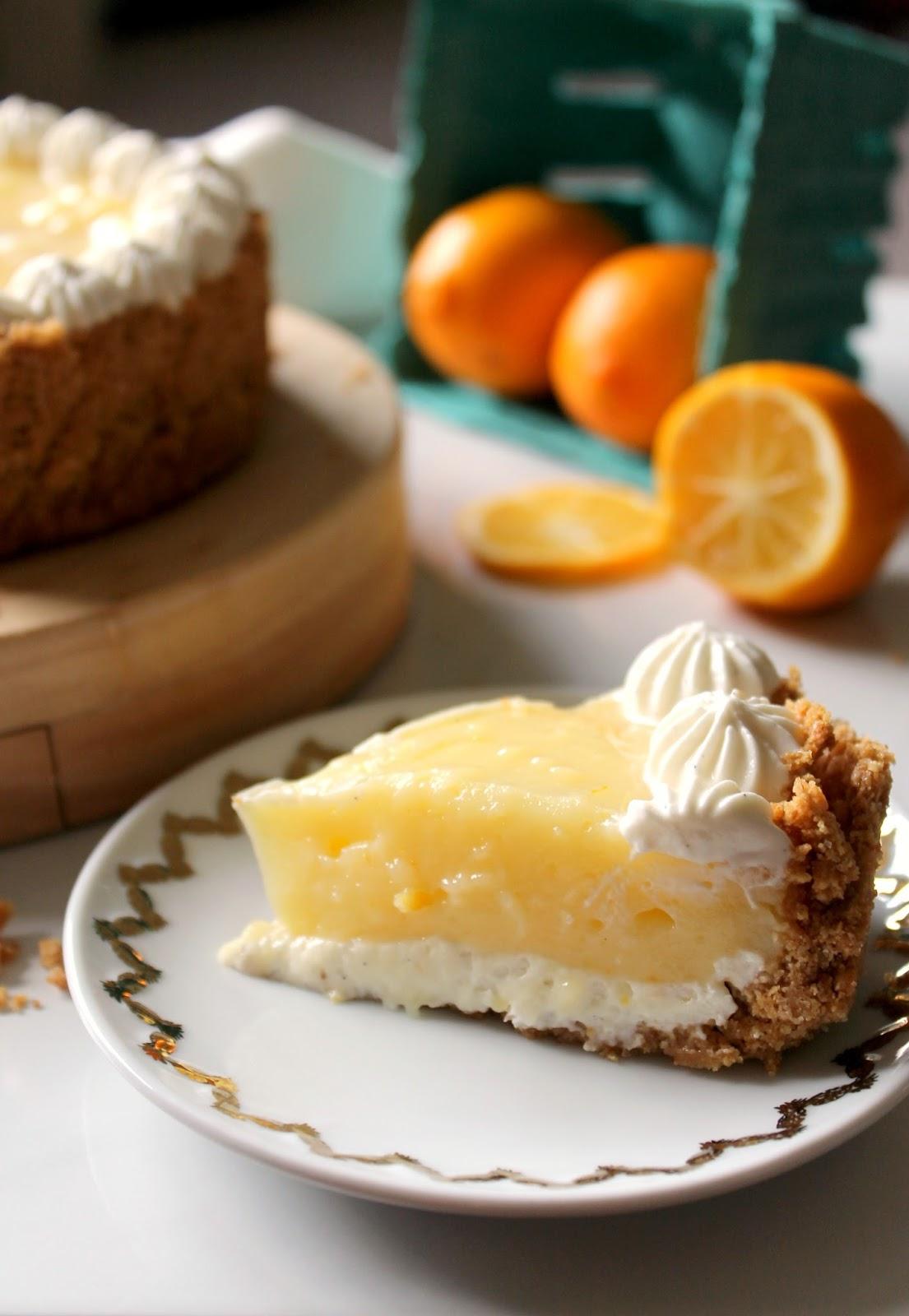 Meyer Lemon + Yogurt Cream Pie - The Kitchen Prep Blog