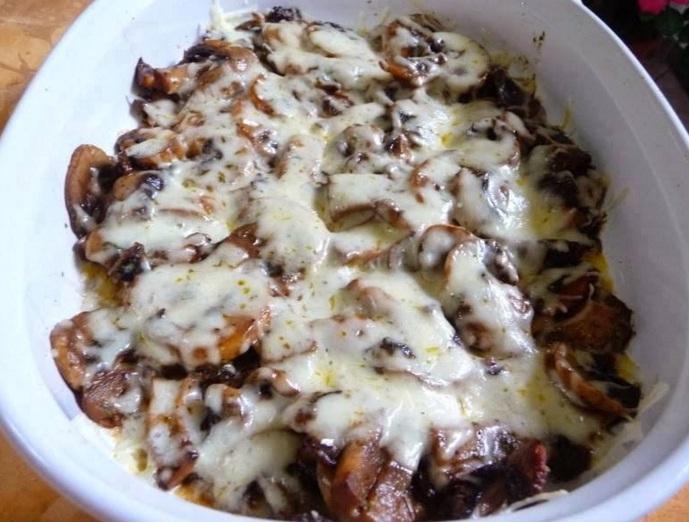 Mushroom Mozzarella Bake Cooking For You