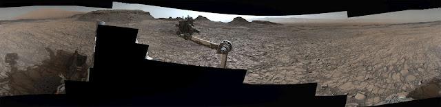 Panorama de Marte - agosto de 2016 - Curiosity