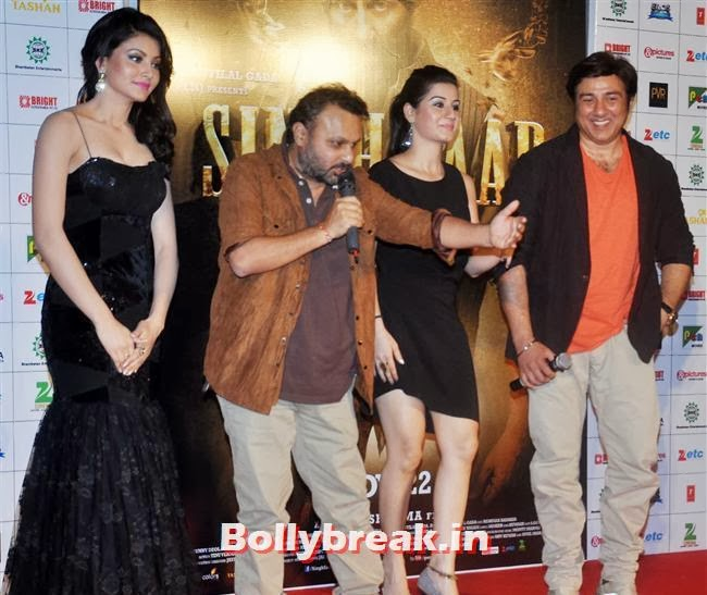 Urvashi Rautela, Sunny Deol and Amrita rao, Singh Saab The Great Music Launch