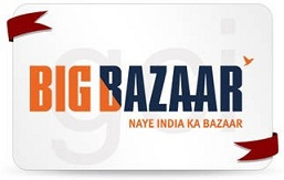 Big Bazaar Gift Voucher (Rs.500  & Rs.1000) : Get 10% Cashback in Paytm Wallet