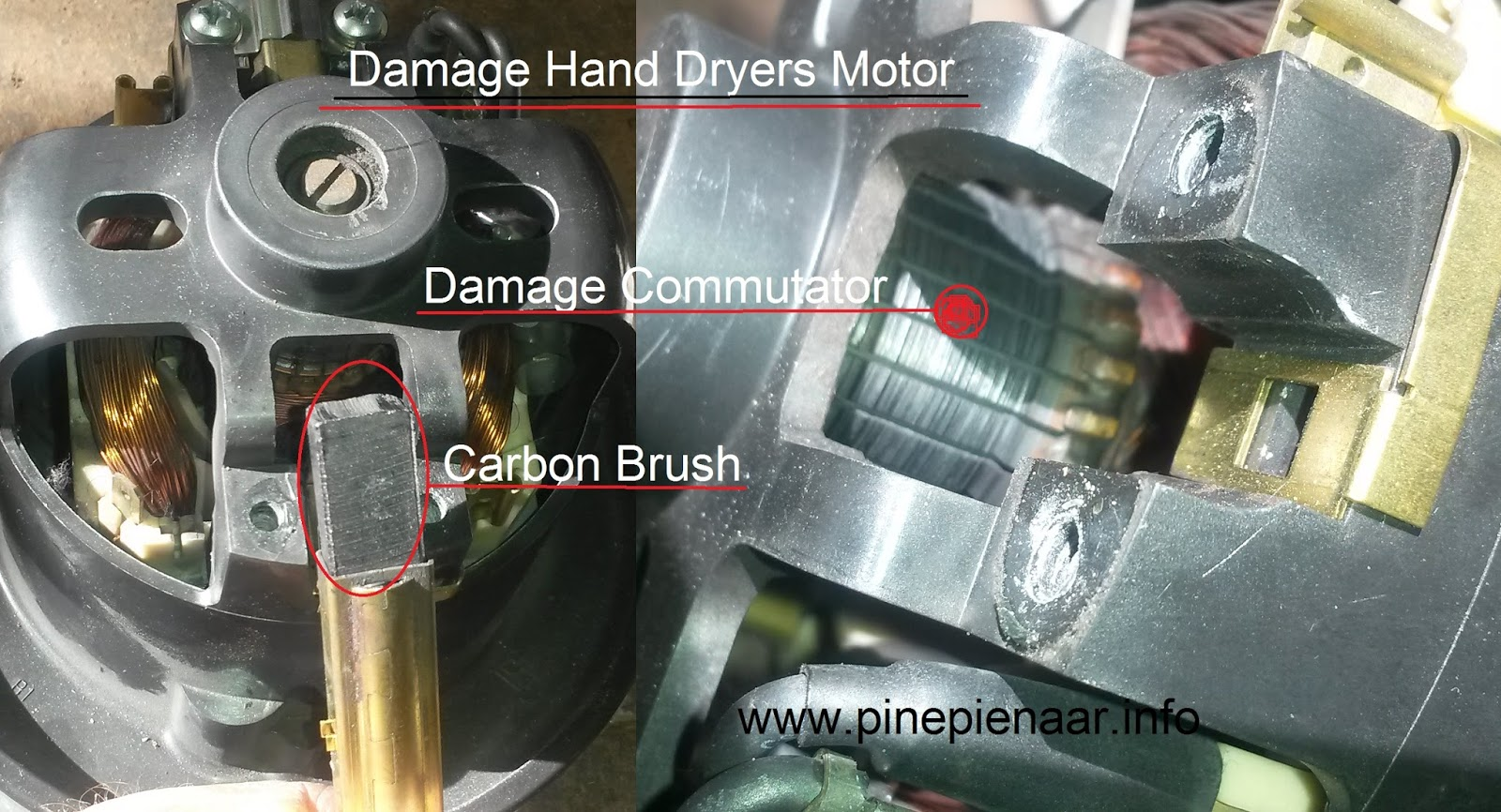All appliances hand dryer repairs in eastern cape for Small electric motor brushes
