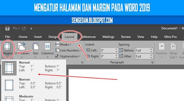 Mengatur Halaman dan Margin pada Word 2019