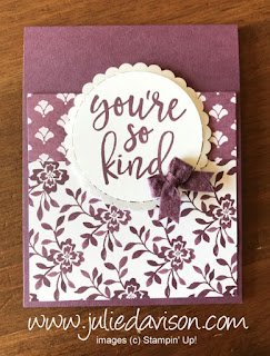 Stampin' Up! 2017-2019 In Color Notes of Kindness Cards ~ Fresh Fig ~ www.juliedavison.com