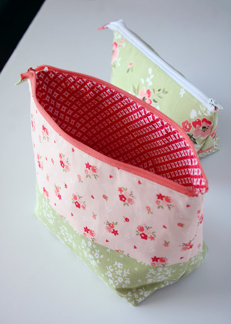 Open Wide Zipper Pouch made by Andy Knowlton of A Bright Corner