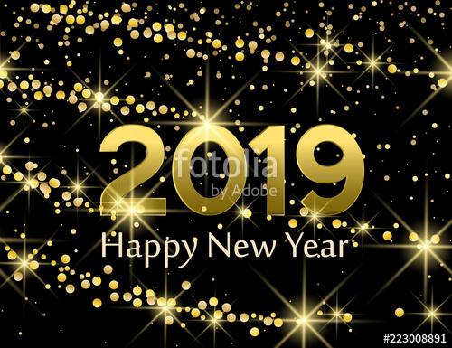 Happy new year animated gif 2019