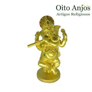 Imagem Ganesh Em Pé Dançarino- Estátua Ganesh Prosperidade - Oito Anjos Artigos Religiosos e Loja Esotérica