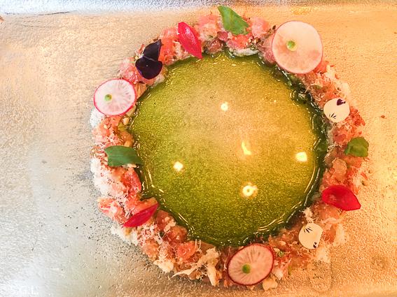 Ensalada de encurtidos y salazones. Restaurante La Salita