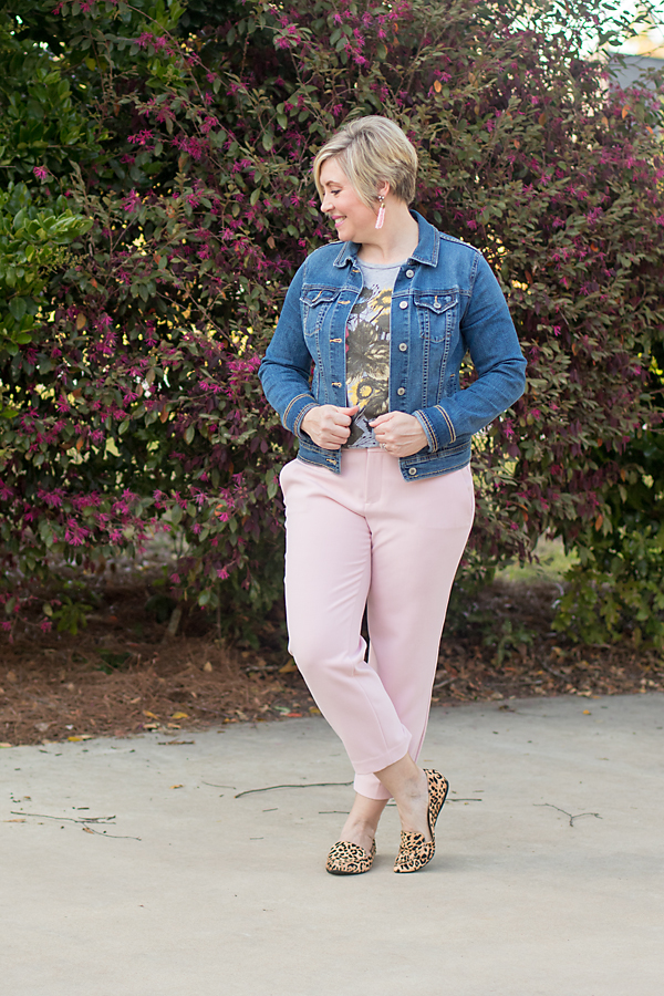 blush cropped pants