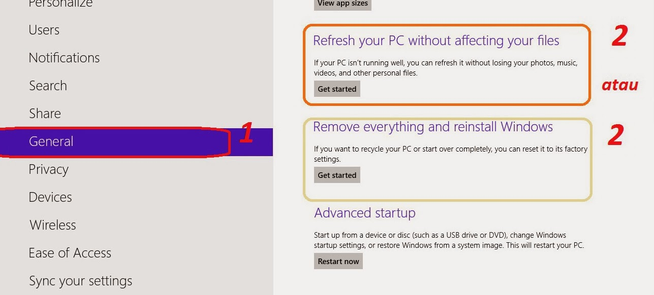 Slide the mouse pointer to the occur or bottom correct of the desktop covert How to Fix Windows 8 Without Re-Install