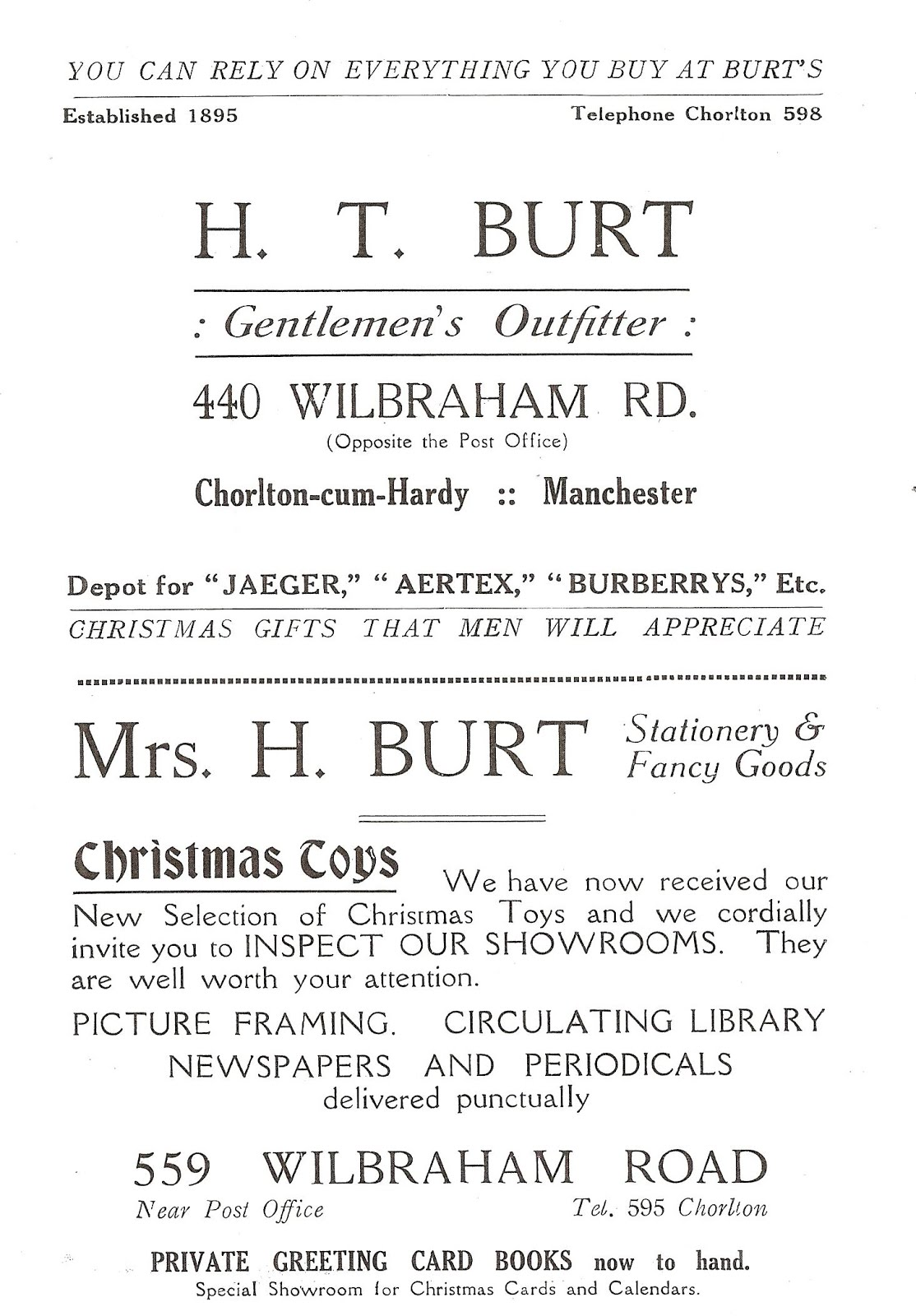 Andrew Simpson: Barlow Moor Road, Mrs Helen Burt and the postcard ...