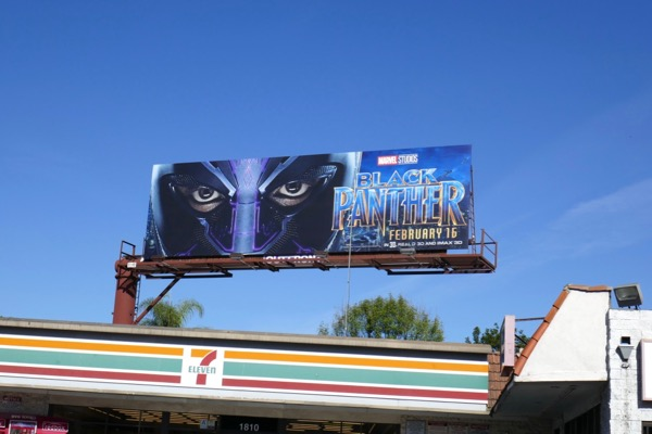 Black Panther film billboard