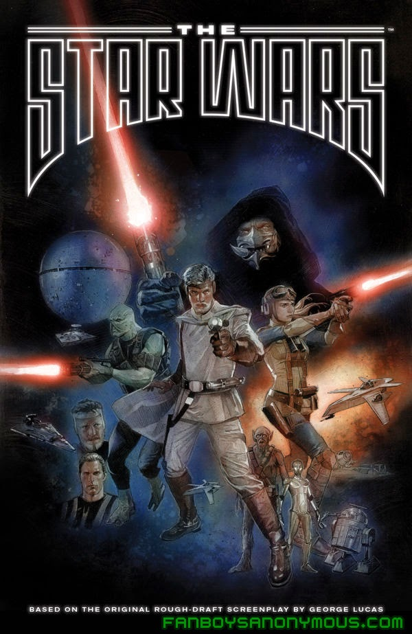 Preorder The Star Wars by Dark Horse Comics with the Duluxe Box Set to receive foil-printed hardcover books and extras