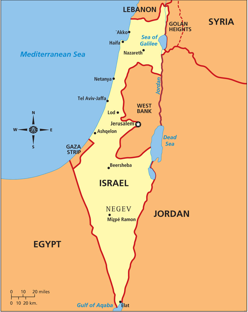 Israel map by the end of the war