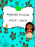 Agenda escolar de moana para imprimir en word