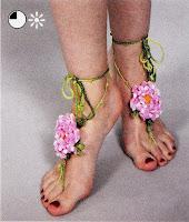 Летние украшения для ног вязание крючком