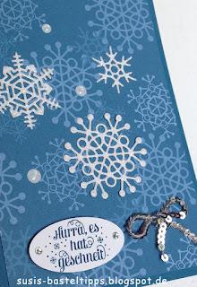 """Stampin' Up! Karte mit dem Kartenset Erinnerungen und mehr """"Farbenspiel"""", Thinlits """"aus jeder Jahreszeit"""" und stempelset """"jahr voller Farben"""""""