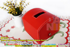 Kotak Tisu Vinyls Cembung Crimson Ukuran Kecil